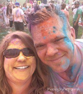 me and Ian-color me rad