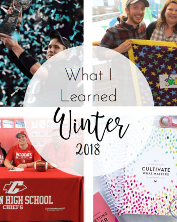 What I Learned Winter 2018